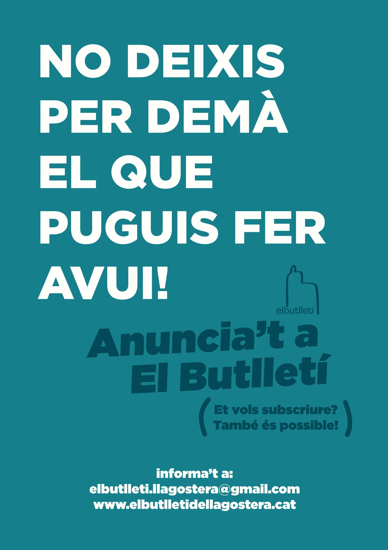 """Publicita't a """"El Butlletí"""""""